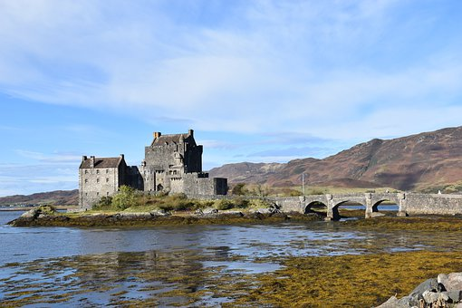 Castle, Eilean Donan Castle, Bridge, Fortress, Citadel