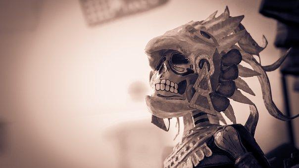 Skull, Skeleton, Bones, Figure