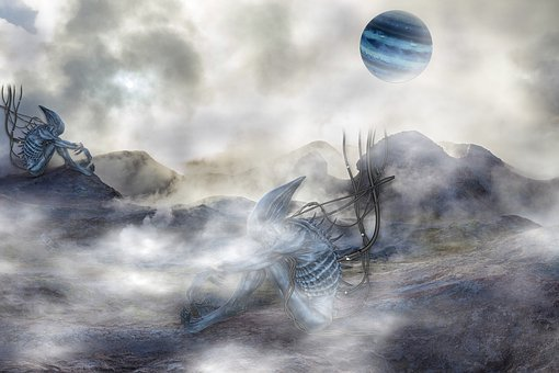 Alien, Planet, Fantasy, Fog, Foggy, Space, Outer Space