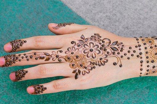 Mehndi, Henna, Beauty, Hand, Fingers, Body Art