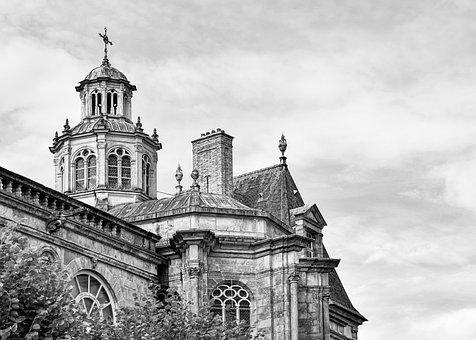Church, Building, Architecture, Structure, Line Art