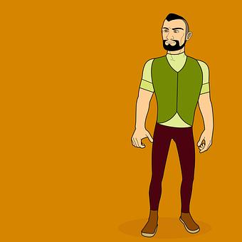 Man, Model, Vest, Clothing, Beard