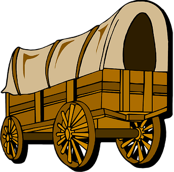 Wagon, Ox, Pioneer, Pilgrim, Frontier, Load, Travel