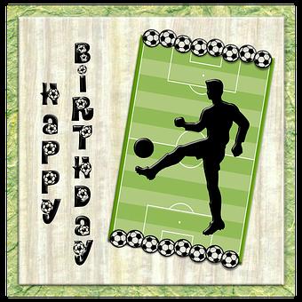 Birthday, Football, Player, Silhouette