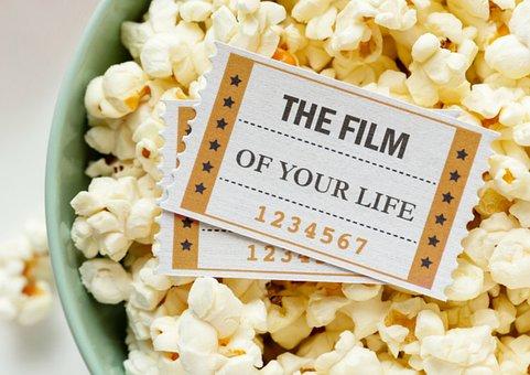 Popcorn, Food, Film Ticket, Movie Ticket