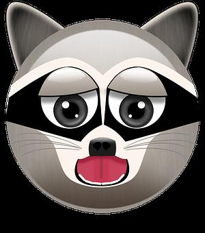 Raccoon, Raccoon Emoji, Animal Emoji, Raccoons