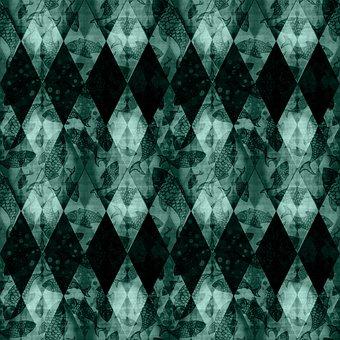 Rhomboid, Rhombus, Fish, Checkered, Scales, Sea, Ocean