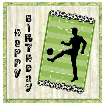 Player, Soccer, Ball, Football, Birthday, Silhouette