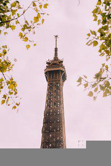 Tower, Building, Monument, Tree, Flowers