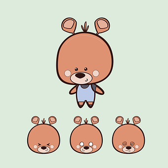 Teddy Bear, Bear, Toy, Childhood, Character, Drawing