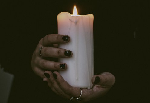 Candle, Wax, Hands, Incandescent, Flame, Burning