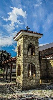 Cyprus, Avgorou, Ayios Mamas, Church, Belfry