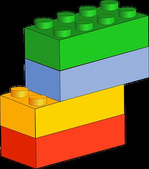 Blocks, Blue, Bricks, Building Blocks, Green, Red