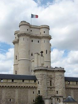 Tower, Vincennes, Castle, France, Pierre, Flag