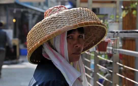 China, Native, Chinese Woman, Hat, Rice Straw, Portrait