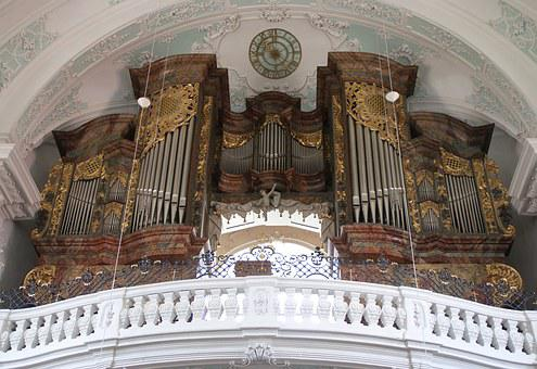 Organ, Basilica, Vierzehnheiligen, Church, Christian