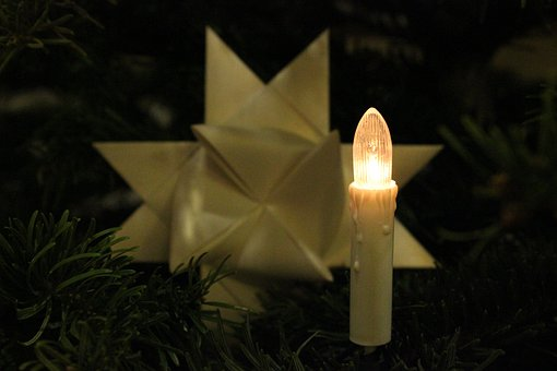 Christmas Tree Candle, Christmas, Electrically