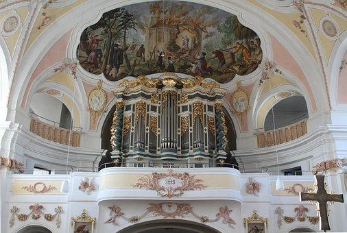 Bettbrunn, St Salvator, Church, Organ, Pipes, Interior