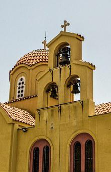 Cyprus, Tersefanou, Church, Belfry, Bells, Architecture