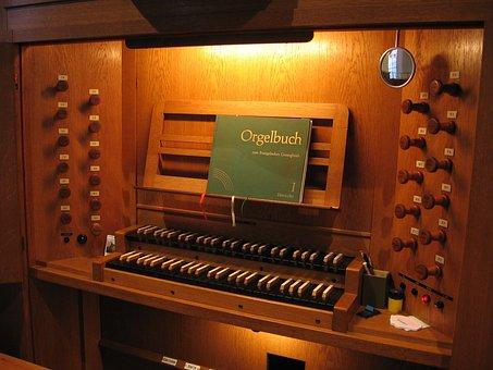 Church, Organ, Organ Bank, Instrument