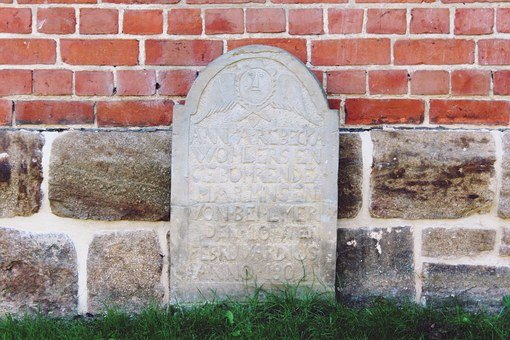 Tombstone, Memorial Stone, Church, Stone, Christen