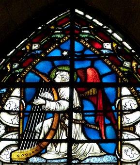Angel, Church Window, Church, Glass Window, Window