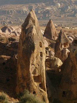 Uchisar, Rock Apartments, Apartments, City