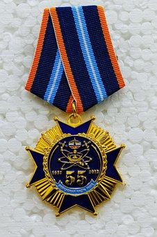 Medal, Commemorative Medal, Jubilee Medal, Space Forces