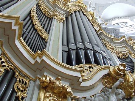 Hofkirche, Dresden, Organ, Organ Whistle, Music, Church