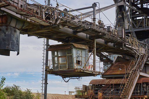 Open Pit Mining, Brown Coal, Excavators