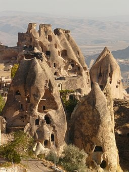 Fairy Chimneys, Uchisar, Fairy Towers, Tufa, Apartments