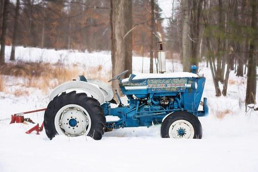 Vintage Tractor, Old Tractor, Blue Tractor, Farm