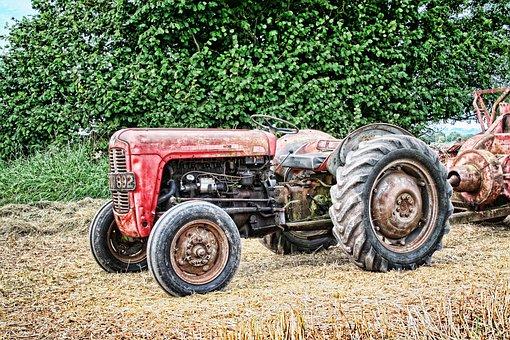 Tractor, Vintage, Farming, Agriculture, Equipment, Farm