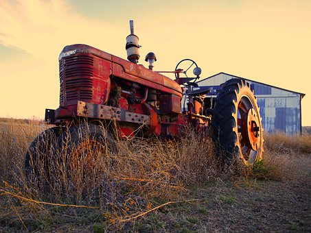 Tractor, Agriculture, Machine, Rural, Farming, Plowing