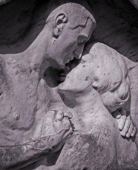 Statue, Figure, Sculpture, Love, Pair, Lovers