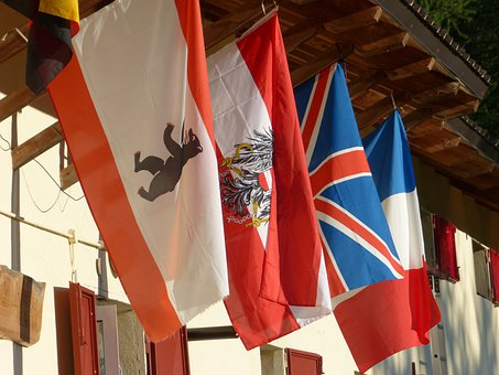 Flags, International, Austria, England, France, Depend