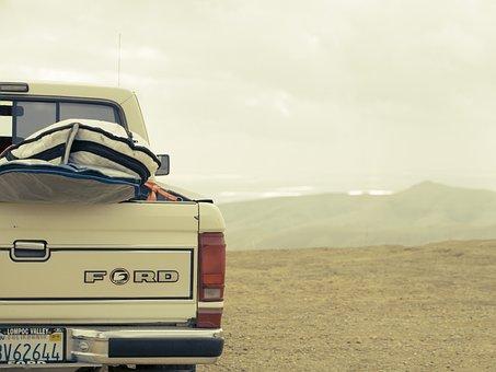 Ford, Truck, Surf, Surfing, Beach, California