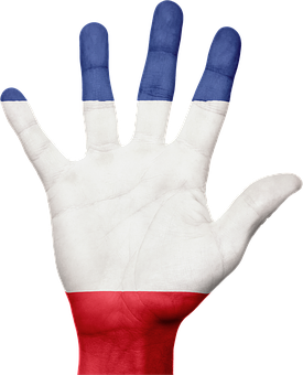 France, Flag, Hand, French, Patriotic, Patriotism