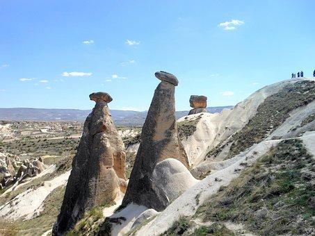 Cappadocia, Landscape, Turkey, Rock Formations, Nature
