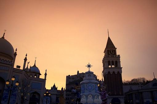 Everland, Amusement Park, Glow, Shelter, Light, Palace