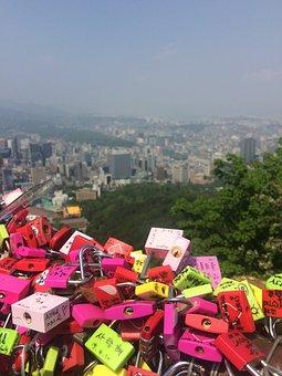 Namsan, Key, Love, Landscape, Lock, Promise