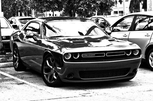 Hdr, Monochrome, Muscle Car