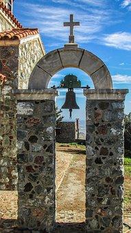 Cyprus, Stavrovouni, Ayii Pantes, Oratory, Belfry
