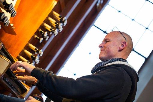 Music, Organist, Church, Play The Organ, Musiciant