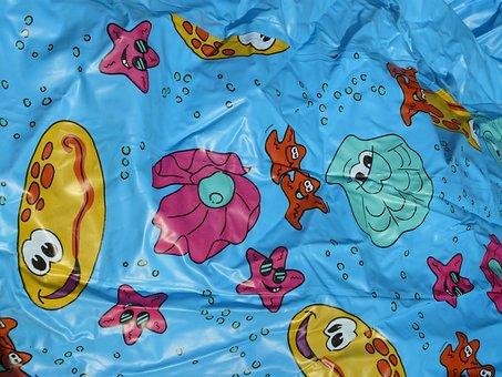Plastic Wrap, Comic Figures, Funny, Printed, Starfish
