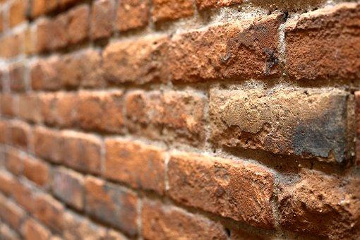 Wall Of Bricks, Bricks, Wall, Red, Brown, Texture