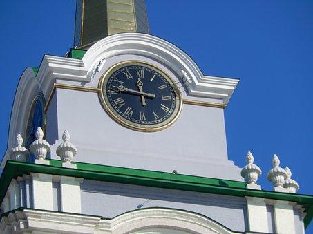 Clock, Belfry, Showplace, Tourism, Religion