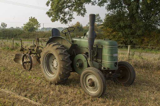 Tractor, Vintage, Ploughing, Agriculture, Retro