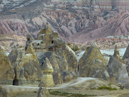 Cliff Dwellings, Fairy Chimneys, Tufa, Rock Formations