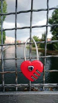 Heart, Red, Padlocks, Love, Romanticism, Safety
